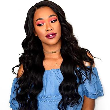 Remy haj Csipke Csipke eleje Paróka Brazil haj Hullámos haj 180% Sűrűség 100% kézi csomózású Hosszú Női Emberi hajból készült parókák