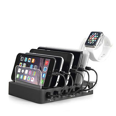 Caricabatteria USB Miimall 6 porte Stazione di caricatore dello scrittorio Dock stand Presa US Presa EU Presa Uk Presa AU Adattatore di