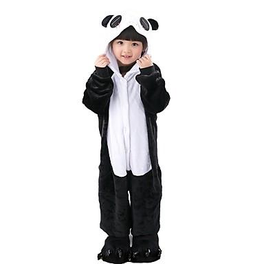 Kigurumi pizsama papuccsal Panda Onesie pizsama Jelmez Φανελένιο Ύφασμα Fekete / Fehér Cosplay mert Allati Hálóruházat Rajzfilm Halloween
