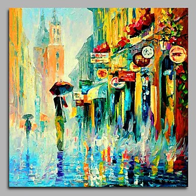 Oil Painting Hand Painted - Landscape Artistic / Classic / Modern / Contemporary Canvas / Stretched Canvas