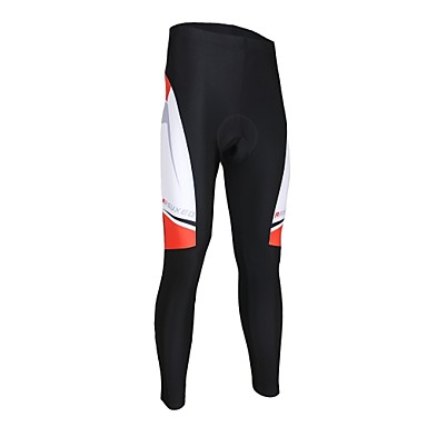 Arsuxeo Men's Cycling Tights Bike Bottoms Quick Dry Classic Polyester, Elastane Black / White Road Cycling Relaxed Fit Bike Wear / High Elasticity