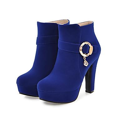 Bout pointu Bottine Rivet Aiguille Mode à Talon 06222285 Daim Chaussures Confort Hiver Bottes la Demi Botte Bottes Automne Femme Nouveauté qOzf6W7
