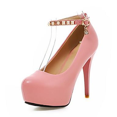 Talons pointu Polyuréthane Beige Nouveauté Boucle Automne Chaussures 06327604 Chaussures à Bout Printemps Rose Confort Rouge Femme fUn8vWp