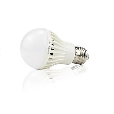 abordables Ampoules électriques-1pc 4 W Ampoules LED Intelligentes 399 lm 16 Perles LED SMD 2835 Audio-activé Décorative Contrôle de la lumière Blanc 220 V