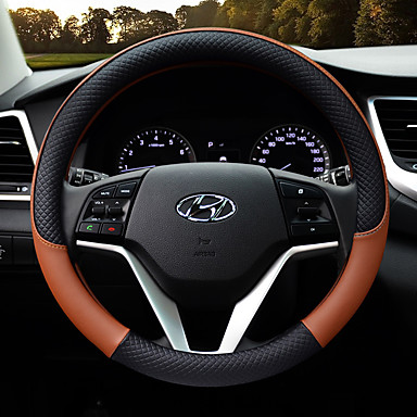 cheap Steering Wheel Covers-Steering Wheel Covers Leather 38cm Purple / Yellow / Coffee For Hyundai General Motors All years