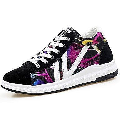 Men's Light Soles PU(Polyurethane) Spring / Fall Sneakers Rainbow / Black / White / Black / Red