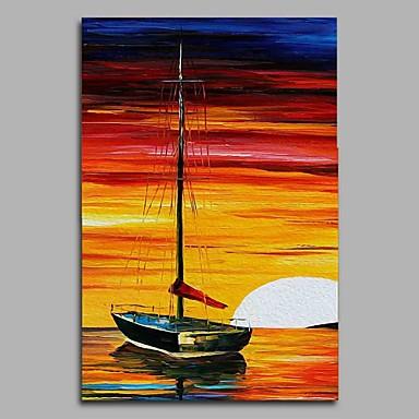 Hang festett olajfestmény Kézzel festett - Landscape Modern / kortárs Vászon