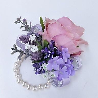 Wedding Flowers Wrist Corsages Wedding Polyester 3.94 inch