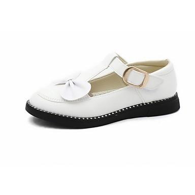 Lány Cipő Bőrutánzat Tavasz Virágoslány cipők Kényelmes Lapos Csokor Átlátszó ragasztószalag mert Hétköznapi Ruha Fehér Fekete Piros