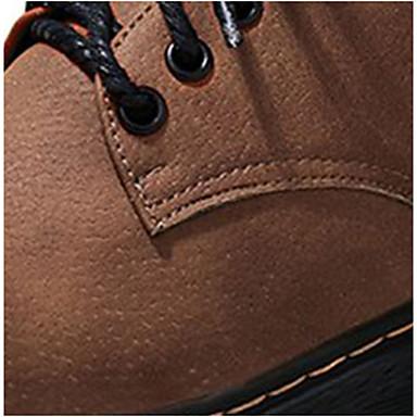 Oxfords Otoño Zapatos Cordón Caqui Dedo Cuadrado PU Confort Mujer redondo Marrón 06261091 Con Tacón wqBIcdIE