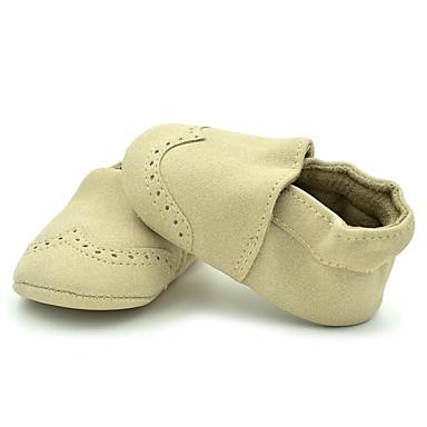 baratos Sapatos de Criança-Para Meninas Camurça Rasos Crianças (0-9m) Conforto / Primeiros Passos / Sapatos de Berço Elástico Vermelho / Rosa claro / Azul Claro Primavera Verão