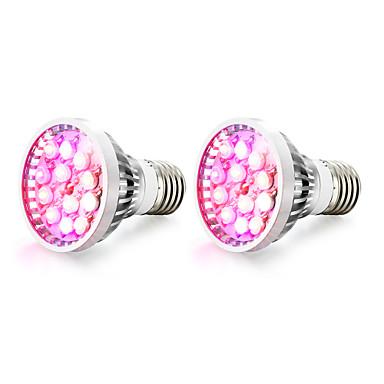 2pcs 100-200lm E14 GU10 E27 Voksende lyspære 12 LED perler Høyeffekts-LED Varm hvit UV Blå Rød 85-265V
