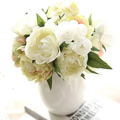 Artificial Flowers 8 Branch European Peonies Tabletop Flower