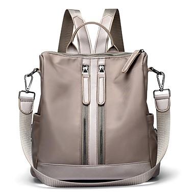 Women's Bags Nylon Backpack Zipper Dark Blue / Gray / Purple