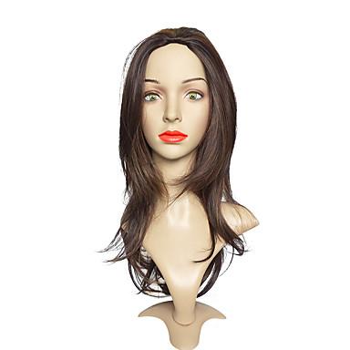 Synthetic Wig Straight Layered Haircut Synthetic Hair Brown Wig Women's Long Capless Medium Brown / Dark Auburn