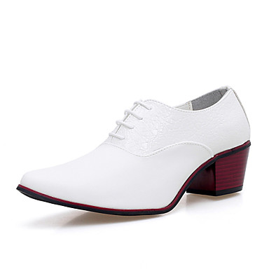 Men's Novelty Shoes Microfiber Fall Comfort Oxfords White & / Black / Party & White Evening a2b330