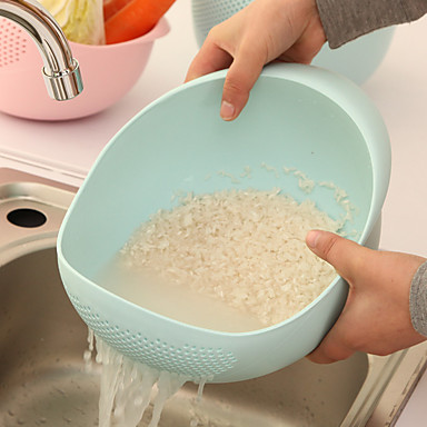 Rice Washer Kitchen Clean Vegetable Fruit Bowl Drain Basket Cooking Tools Wash