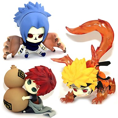 Anime Akciófigurák Ihlette Naruto Sasuke Uchiha PVC 5-7 cm CM Modell játékok Doll Toy