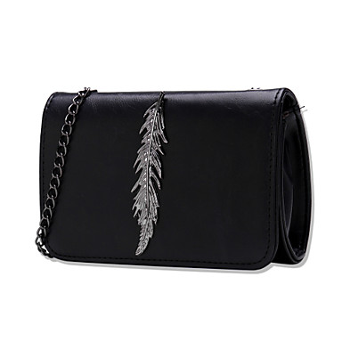 Women's Bags PU Crossbody Bag Buttons Black / Gray / Wine