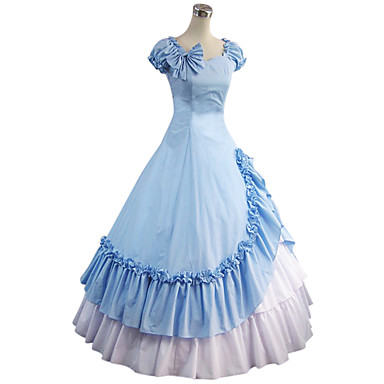 Vintage Medieval Vitoriano Góticas Ocasiões Especiais Mulheres Vestidos Baile de Máscara Festa a Fantasia Azul Vintage Cosplay Other
