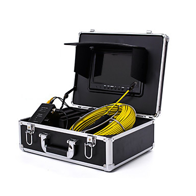 "cheap Test, Measure & Inspection Equipment-Endoscope Pipeline Inspection System 7"" 30M Drain Sewer Waterproof Camera with 12 LED Lights"