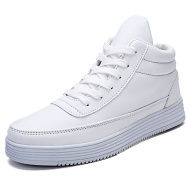 Men's Comfort Shoes Leatherette Spring / Fall Sneakers White / Black