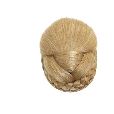 Blonde Klasszikus Újévi Karácsony Mindszentek napja Hajkonty Jó minőség Kontyok Szintetikus haj Hajdarab Póthaj Klasszikus Újévi