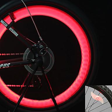 Bisiklet Işıkları tekerlek ışıkları vana kapağı yanıp sönen ışıklar LED Bisiklet arka hücreli piller Lümen Batarya Bisiklete biniciliği