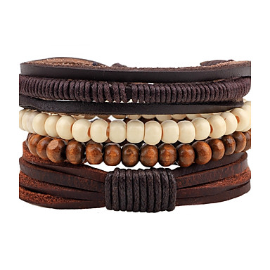 Men's Women's Strand Bracelet Leather Bracelet - Leather Bohemian Bracelet Coffee For Casual Going out
