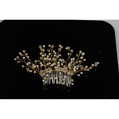 Tulle Crystal Alloy Hair Combs with Feather 1 Wedding Special Occasion Event/Party Headpiece