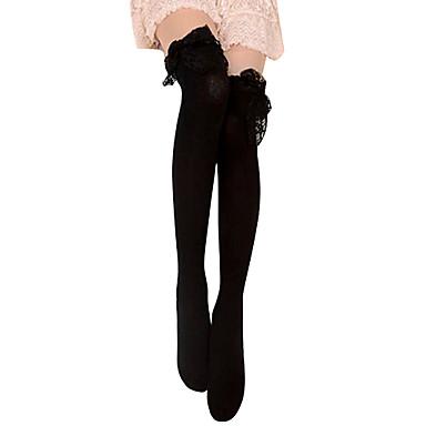 Ponožky a punčochy Gothic Lolita Lolita Dámské Černá Lolita Příslušenství Krajka Punčocháče Bavlna