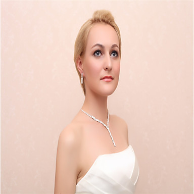 Women's Jewelry Set - Include Drop Earrings / Necklace Silver For Wedding / Party