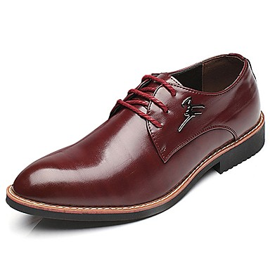 Men's PU(Polyurethane) Spring / Fall Comfort Oxfords Black / Brown / Wine