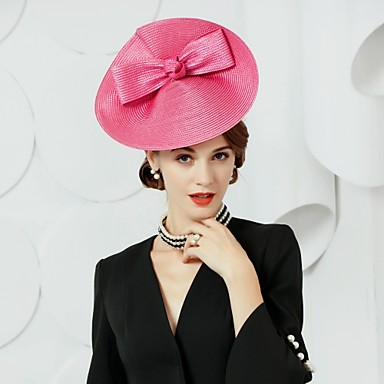 Polyester Hats with 1 Wedding / Party / Evening Headpiece
