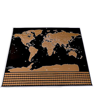 Scratch Map Square Paper Maps Children's Adults' Gift