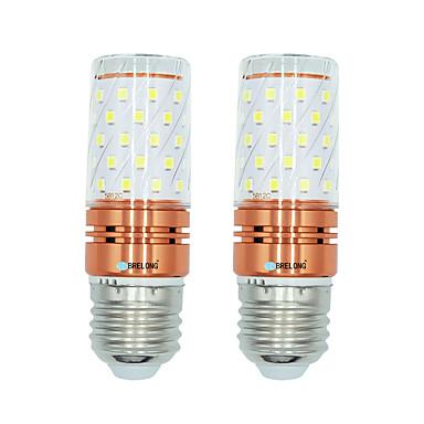 זול תאורה דקורטיבית-brelong 2 יח '12w e27 60 smled2835 תירס אור ac220v חם / לבן לבן / צבע אור כפול