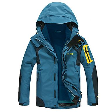 AFSJeep Herrn 3-in-1 Jacken Außen Winter warm halten tragbar Atmungsaktiv wasserdicht Schweißableitend Winddicht Jacke Oberteile