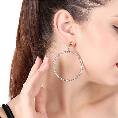 Women's Drop Earrings Hoop Earrings - Rhinestone Bling Bling Gold / Silver For Party Date