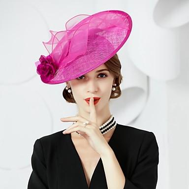abordables Coiffes-Lin / Soie Kentucky Derby Hat / Chapeaux avec 1 Mariage / Occasion spéciale Casque