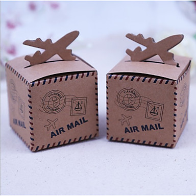 cheap Favor Holders-Creative Cuboid Card Paper Satin Favor Holder with Pattern Favor Boxes