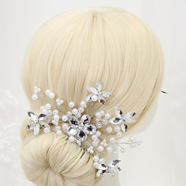 Alloy Hair Pin 1 Wedding Special Occasion Birthday Party / Evening Headpiece