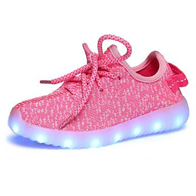 Lány Cipő Lélegző háló Tavasz / Ősz Kényelmes / Újdonság / Világító cipők Félcipők Fűző / LED mert Zöld / Kék / Rózsaszín