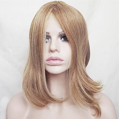 Szintetikus parókák Egyenes Szőke Bob frizura / Bretonnal Szintetikus haj Természetes hajszálvonal Szőke Paróka Női Rövid / Közepes Sapka nélküli