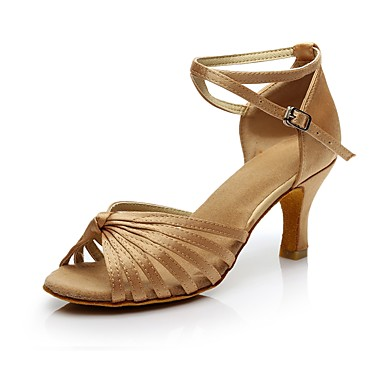 בגדי ריקוד נשים נעליים לטיניות חומרים בהתאמה אישית ספורט ושטח / עקבים עקב גבוה מותאם אישית נעלי ריקוד עירום