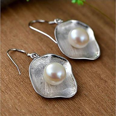 Női Gyöngy Beszúrós fülbevalók Függők - Gyöngy, Ezüst minimalista stílusú, Divat Ezüst Kompatibilitás Napi Hétköznapi
