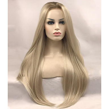 Synthetic Lace Front Wig Straight Blonde Synthetic Hair Blonde Wig Women's Long Lace Front