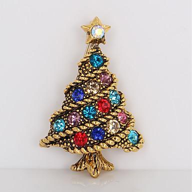 Melltűk - Strassz Az élet fája Egyszerű, Édes Bross Arany Kompatibilitás Karácsony