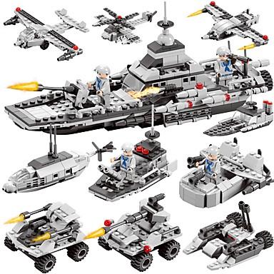 hesapli Oyuncaklar ve Oyunlar-BEIQI Legolar İnşaat Seti Oyuncakları Eğitici Oyuncak 472 pcs Askeri Warship Hava Aracı uyumlu Legoing Yeni Dizayn Kendin-Yap 6 1 Klasik Şık & Modern Bot Genç Erkek Genç Kız Oyuncaklar Hediye