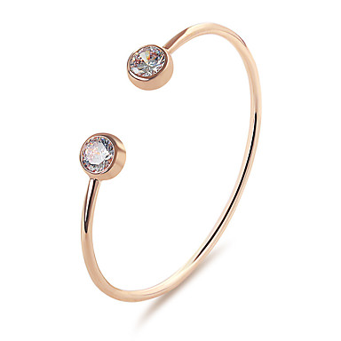 Women's Crystal Cuff Bracelet - Drop Classic, Simple Style, Fashion Bracelet Gold / Silver For Party Birthday Gift