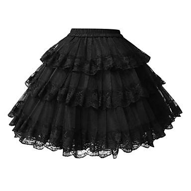 Klassisk/Traditionell Lolita Lolita Dam Underkjol Cosplay Vit Svart Kort längd